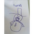What a fabulous snowman Jenson!