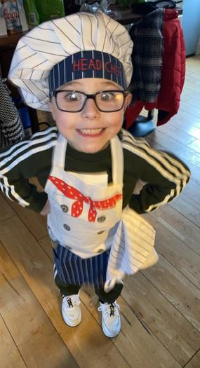 Our Head Chef ready to make Mars Bar Cakes