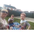 Mrs Scott and her boys!