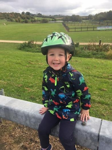 Reece loves getting out on his bike!