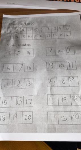 Number work 1-20