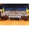 Senior Choir with Mrs Bell (l) & Miss Ashby (r)
