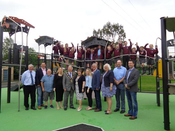 The opening of Ballyoran Play Park