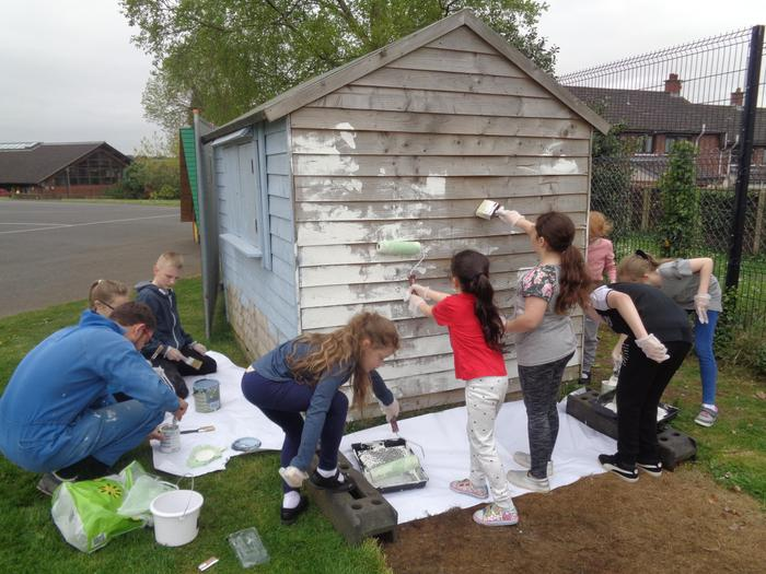 The Pupil Council Shed gets a make-over