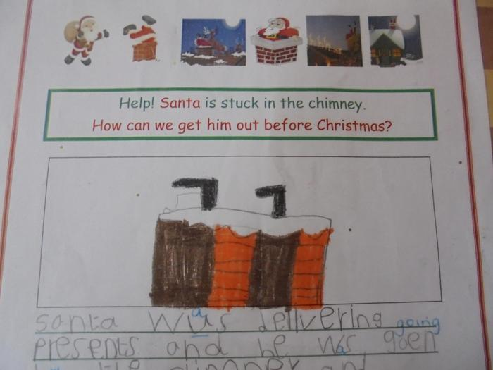 Ideas included using butter to help Santa slide down the chimney and calling a fire engine