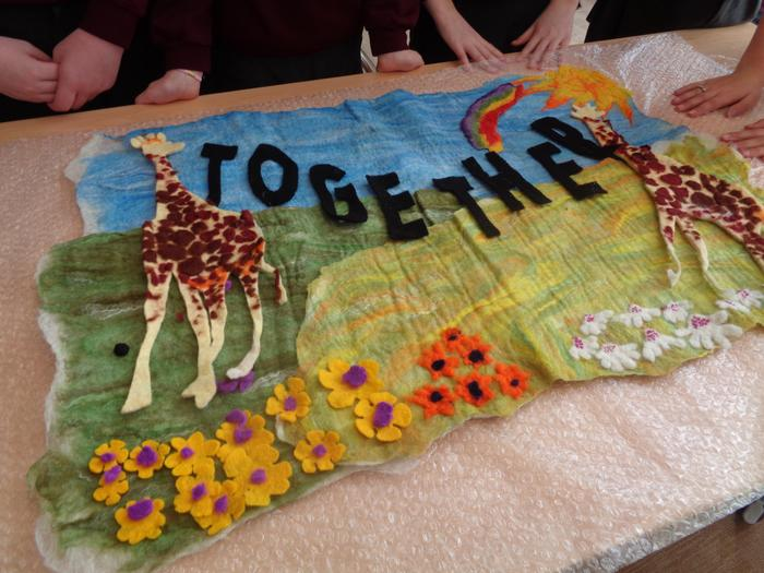 Our felt artwork is almost finished!