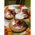 Danil's snowmen biscuits - yum!