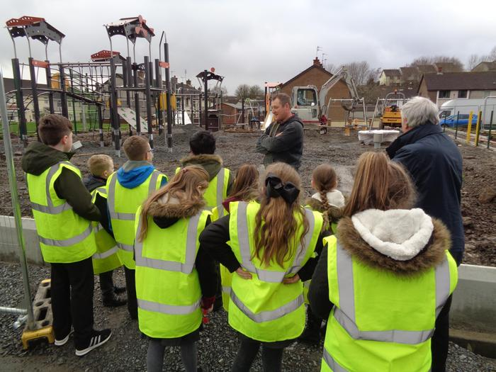 The Pupil Council helping to plan the new Playground