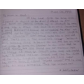 """Evan's  letter based on """"A Martian Comes to Stay"""""""