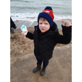At the beach with an icecream - what could be better?!