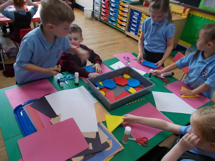 We have been making pictures using 2D shapes