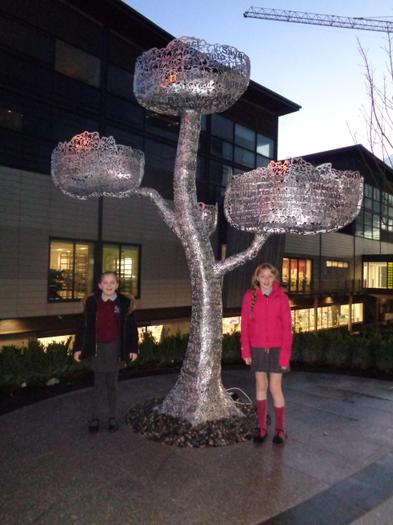 The Rights Respecting Tree at The Ulster Hospital which Pupil Council helped to design