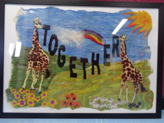 Our Together Sign, made by every child in school