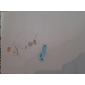 Reuben completed the snowman picture wonderfully!