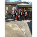 Raising money for Comic Relief by setting ourselves a running challenge.