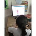 We have been learning to code using scratch as part of position and direction.