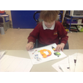making letters with playdough