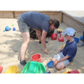 The sandpit was good fun too!
