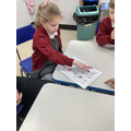 Choosing a greeting and our daily 'check in'.