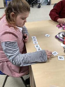 Sequencing numbers from 11 onwards.
