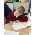 Writing letters and words