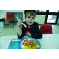 The children cooked there own school lunch.