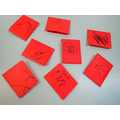We did Chinese writing on lucky envelopes.