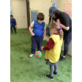 Learning new skills during football.