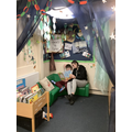 Engaging through story time.