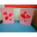 We made valentines cards.