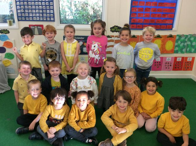 Aquamarine Class on Hello Yellow Day