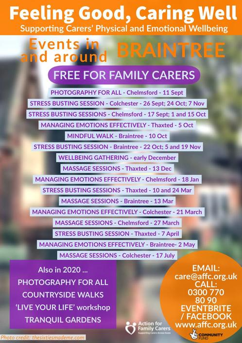 Supporting Carers Physical and Emotional Wellbeing