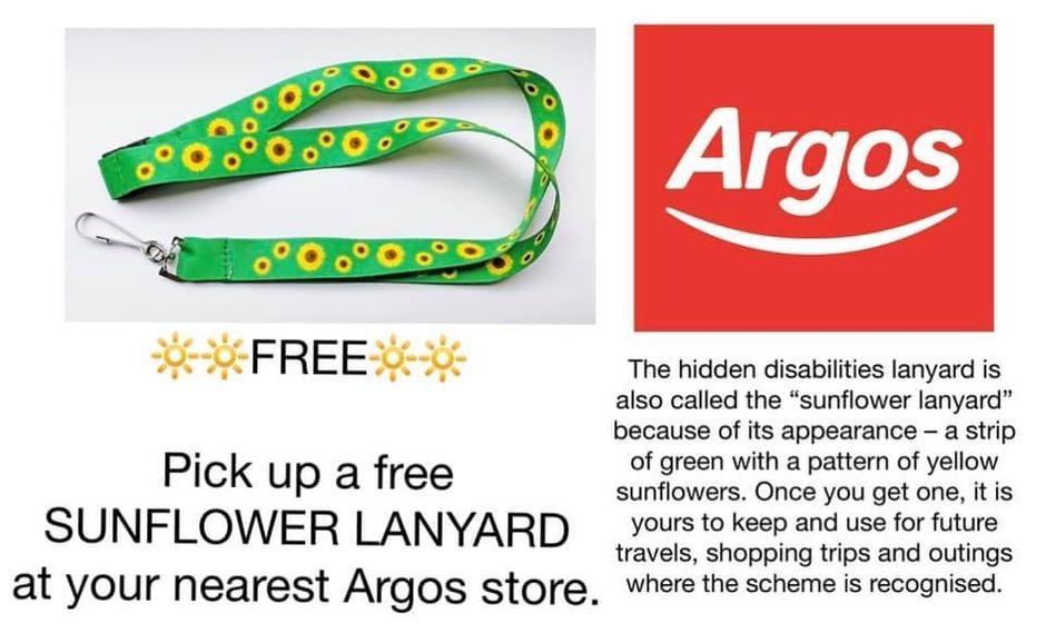 Sunflower lanyard for hidden disabilities