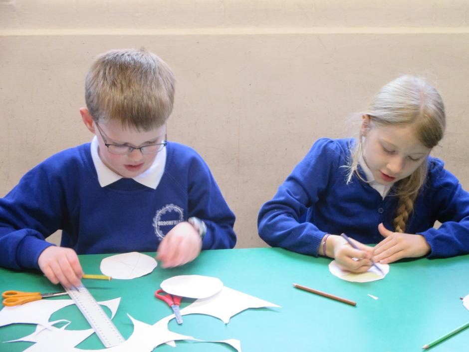 Making Colour Wheel Spinners