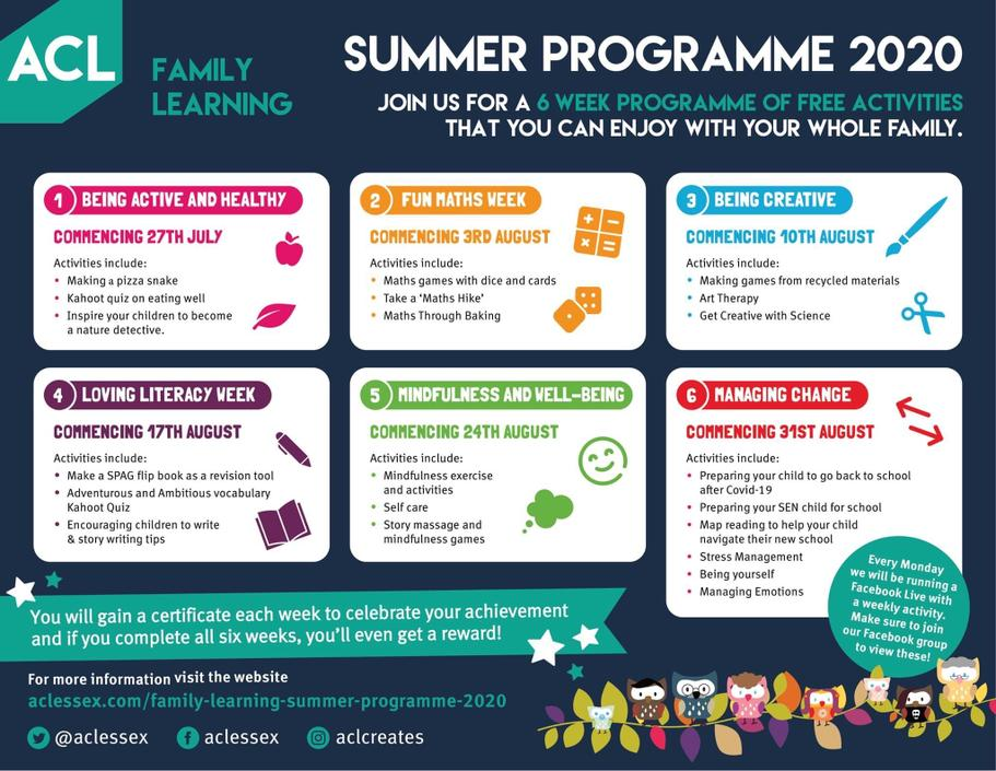 Summer Activities Available through ACL