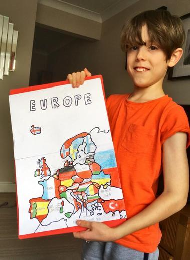 Dylan's European flag map
