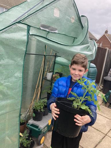 Jack has been busy gardening..