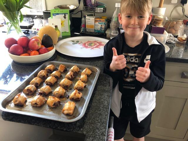 Ben made some very tasty looking sausage rolls.