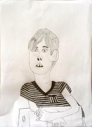 Dylan's self-portrait.