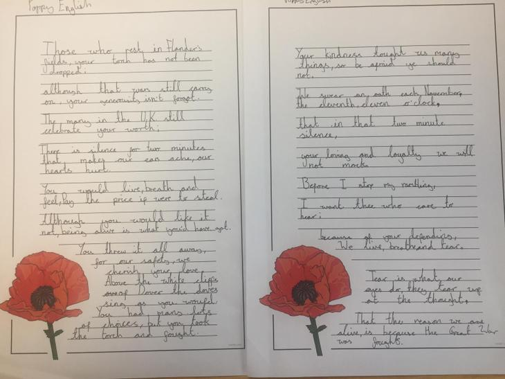 This work was written in response to the poem 'In Flander's Field.'