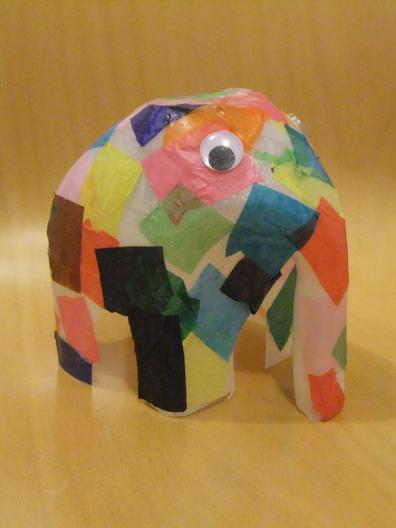 Get creative! Or you could draw an Elmer
