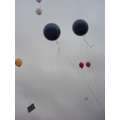 Children set off balloons with their messages on