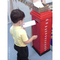 We can post our letters in the post box.