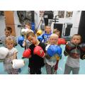 Year 3 RL boxing at Broomwood Community Centre