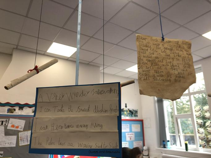 Oak class have been using different ways to display their writing.
