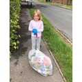 Litter picking! Well done.