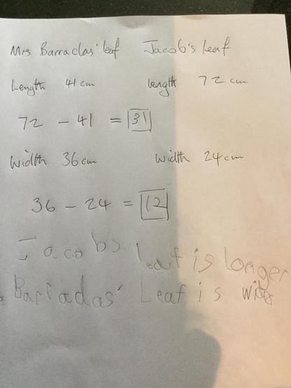 Jacob T's calculations