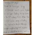 Aurelia's St George's Day work