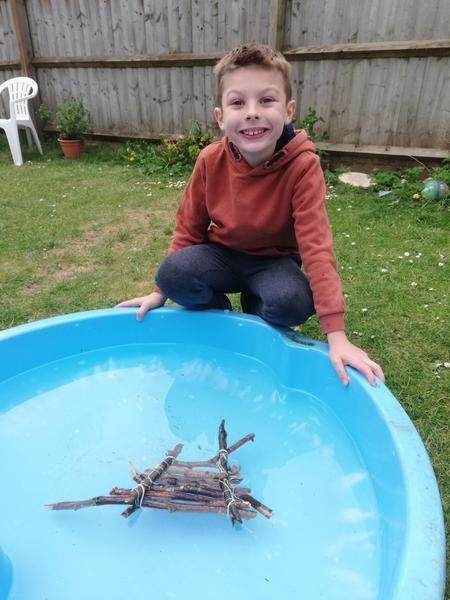 George built a raft