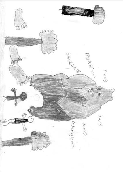 Sarah's drawing of Big Foot